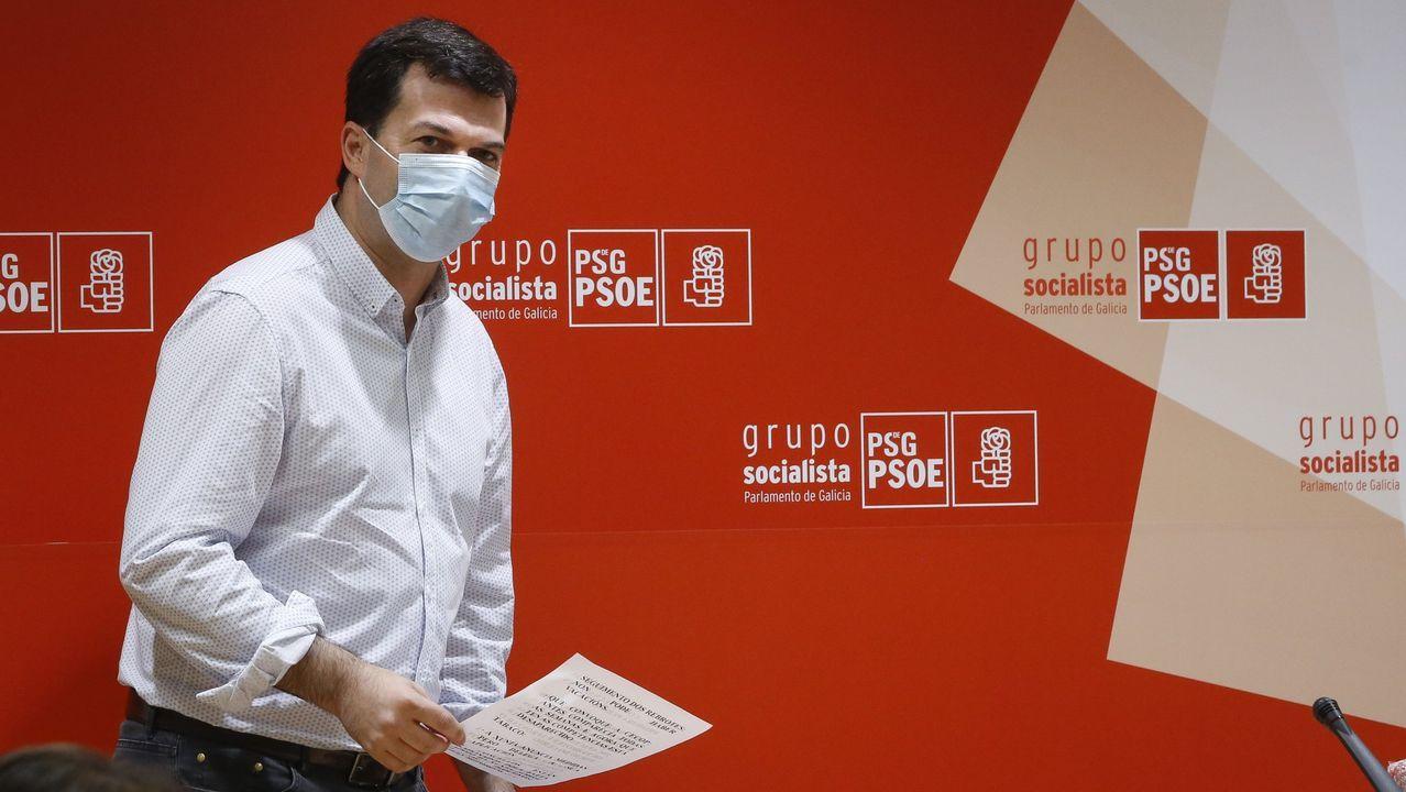 Rueda de prensa del secretario general del PSdeG, Gonzalo Caballero.
