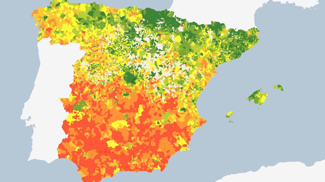 Atlas de Distribución de Renta de los Hogares en España