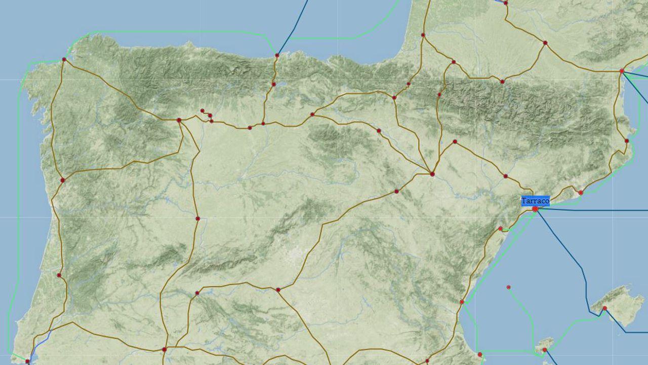 El mapa de vías romanas que muestra el aislamiento de Asturias en la época del Imperio
