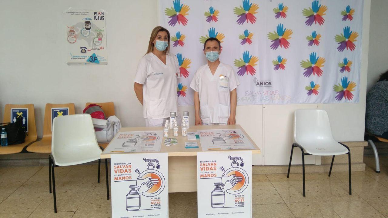 Celebración del Día Mundial de la Higiene de Manos en el área sanitaria de Pontevedra y O Salnés