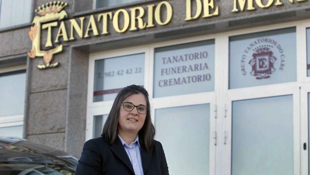 Paz Fernández Campo es la gerente del Tanatorio Monforte, fundado a finales de los noventa