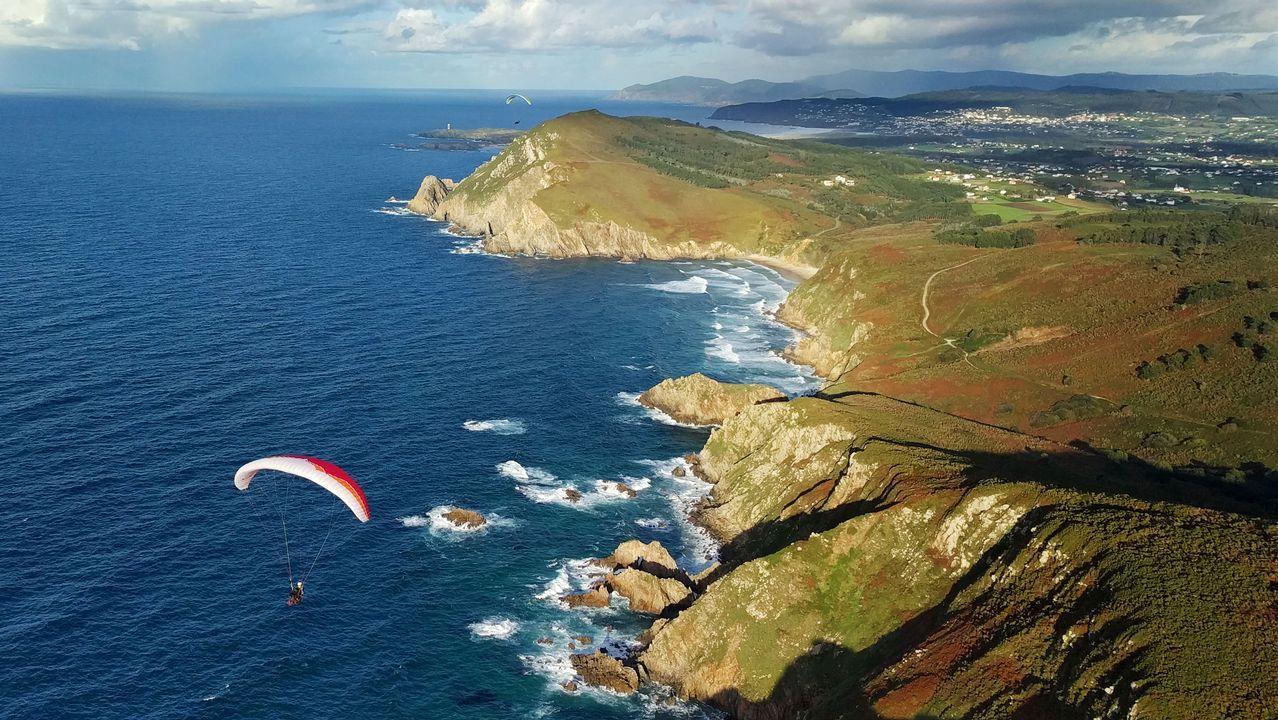 Vista aérea de la costa de Narón y Valdoviño