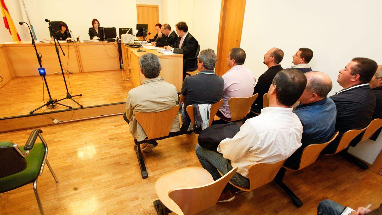 ÁLBUM: La ruta da Marronda en imágenes.Imagen de archivo de una vista en los juzgados de lo social de Lugo