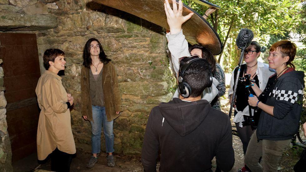 Rodaje de  Amnesia 3.0 en las Torres do Allo. Esta webserie, cuyo proyecto fue uno de los ganadores del año pasado, se estrenó en esta edición