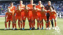 Alineación del Real Oviedo en Riazor