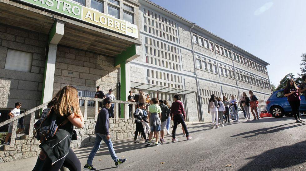 ciencia.IES Castro Alobre, en Vilagarcia. En Galicia hay 254 institutos que ofrecen ESO