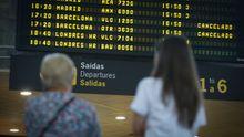 Aeropuerto de Alvedro. Vuelos a Barcelona cancelados