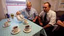 Boris Johnson y su ministro de sanidad, en una imagen de archivo