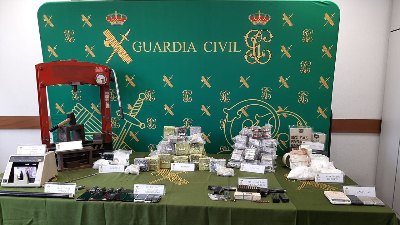 Heroína incautada por la Guardia Civil