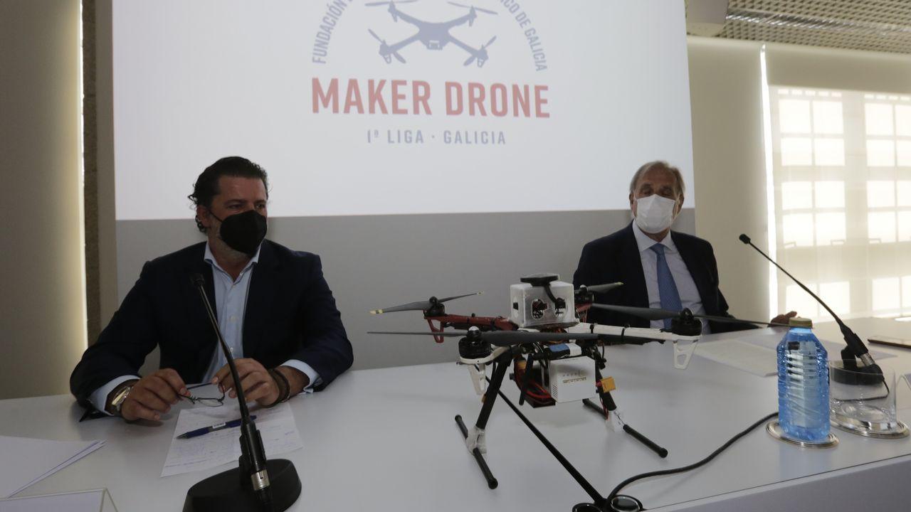 Presentación de la liga Maker Drones, esta mañana en la Fundación Barrié