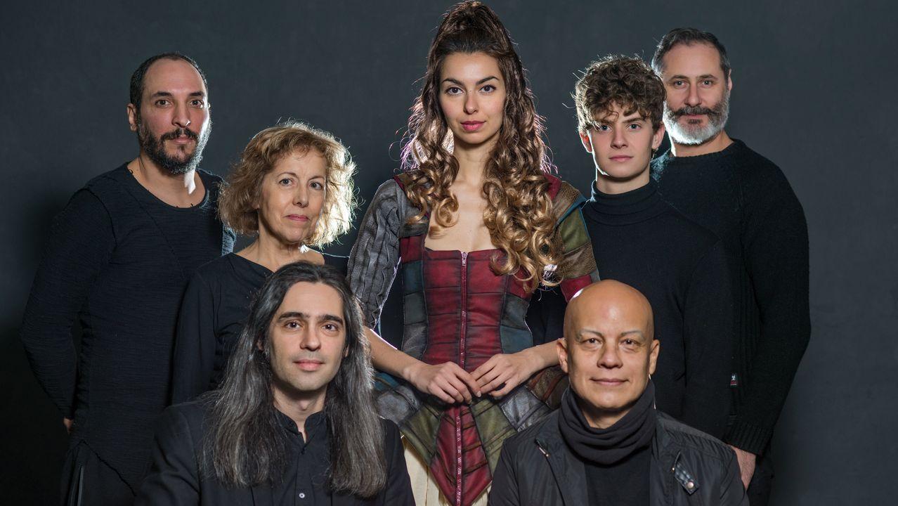 Detalle de un reciente ensayo de la ópera de Nani García, en el coruñés teatro Colón