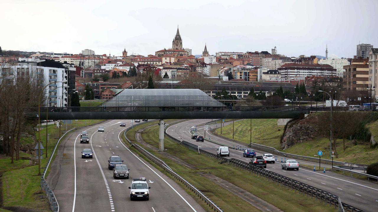 Entrada a Oviedo por la autopista A-8