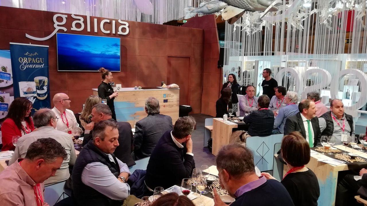 El puesto de la Xunta en la Seafood Expo Global del 2019, celebrada en Bruselas y cuya próxima edición está programada en Barcelona