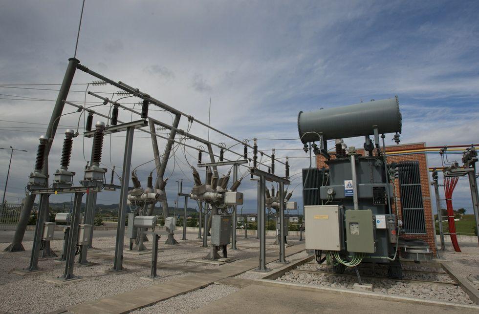 Una subestación eléctrica de Viesgo en Ribadeo asegura luz a 56.000 abonados.Imagen de la subestación eléctrica situada en Ludrio, Castro de Rei.