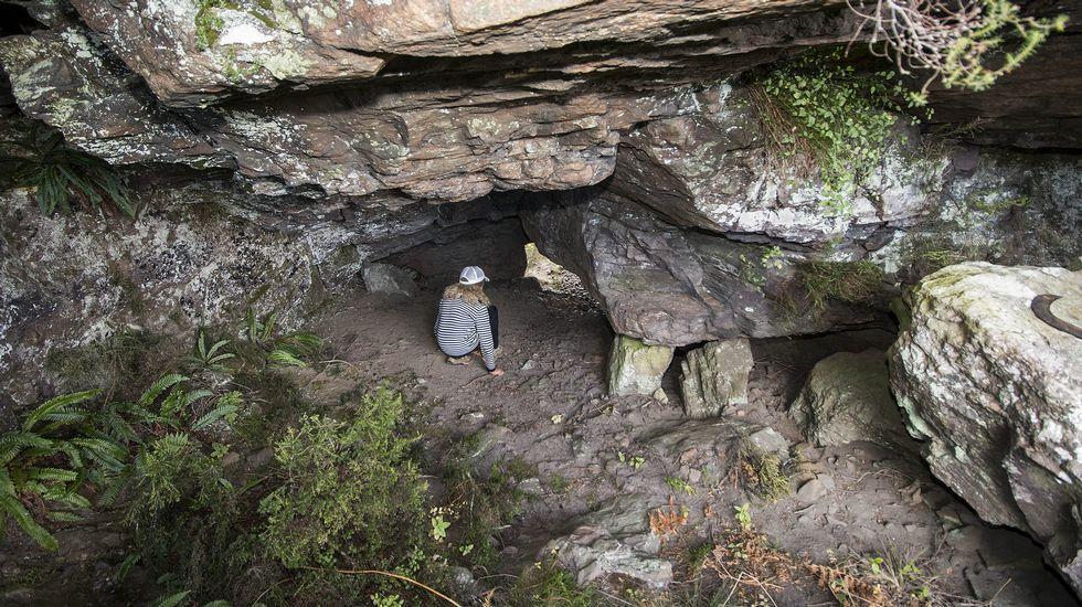 O vento que sopra a través do túnel avivaba o lume que se acendía no seu interior para calcinar o mineral de ferro
