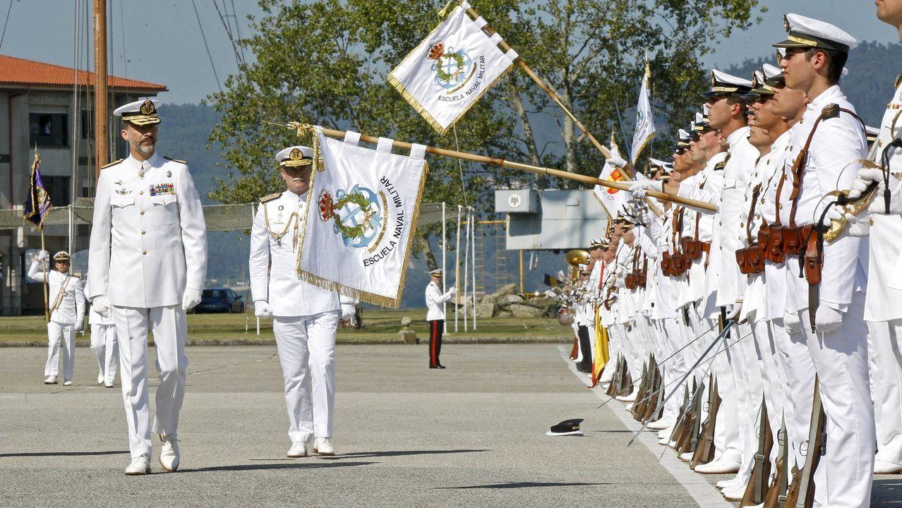 Celebración del 25 aniversario de la promoción de Felipe VI en la escuela naval de Marín