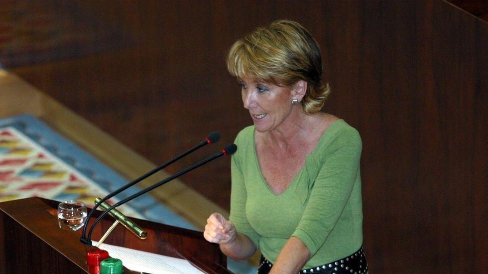 Durante el debate de investidura del candidato a la presidencia de la Comunidad de Madrid.