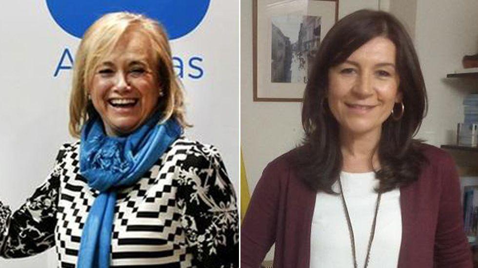 Homenaje a las víctimas del 11M.Mercedes Fernández y Carmen Rodríguez Maniega