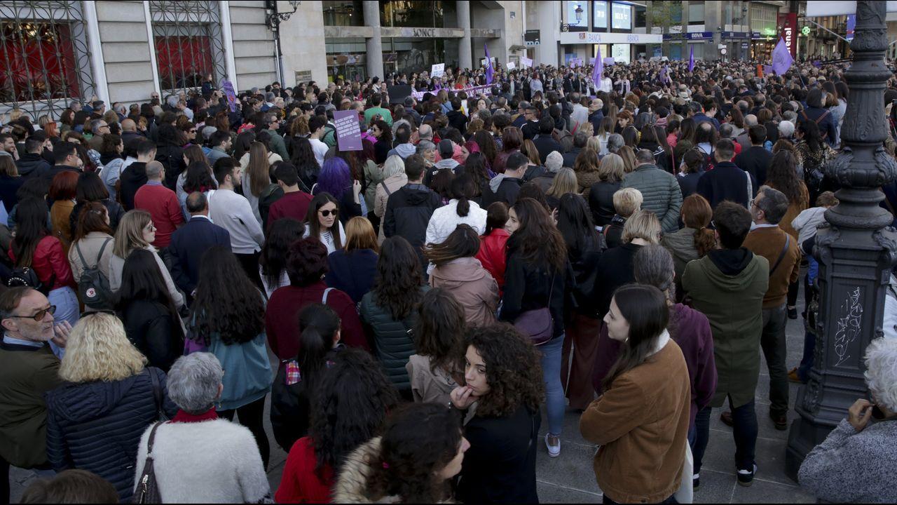 Manifestación en el centro de A Coruña