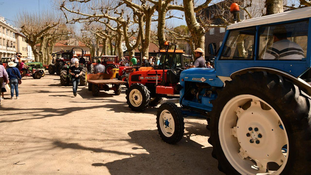 Ponte Caldelas disfruta de su primera tractorada