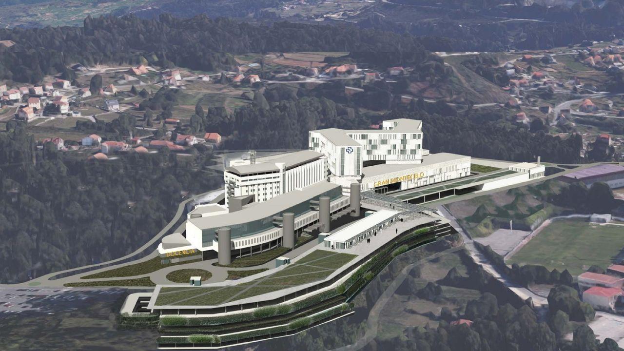 Maqueta del futuro hospital Gran Montecelo, en Pontevedra