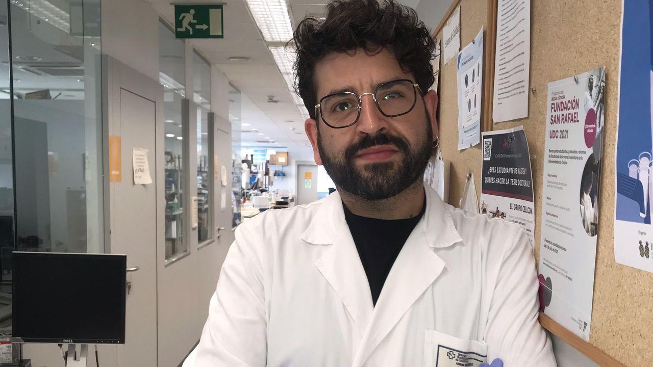 adrian.La doctora Angélica Figueroa (izda.) y Andrea Rodríguez trabajan en el Inibic, un centro vinculado al Chuac, en fármacos innovadores para frenar alteraciones en el colon y otros tejidos