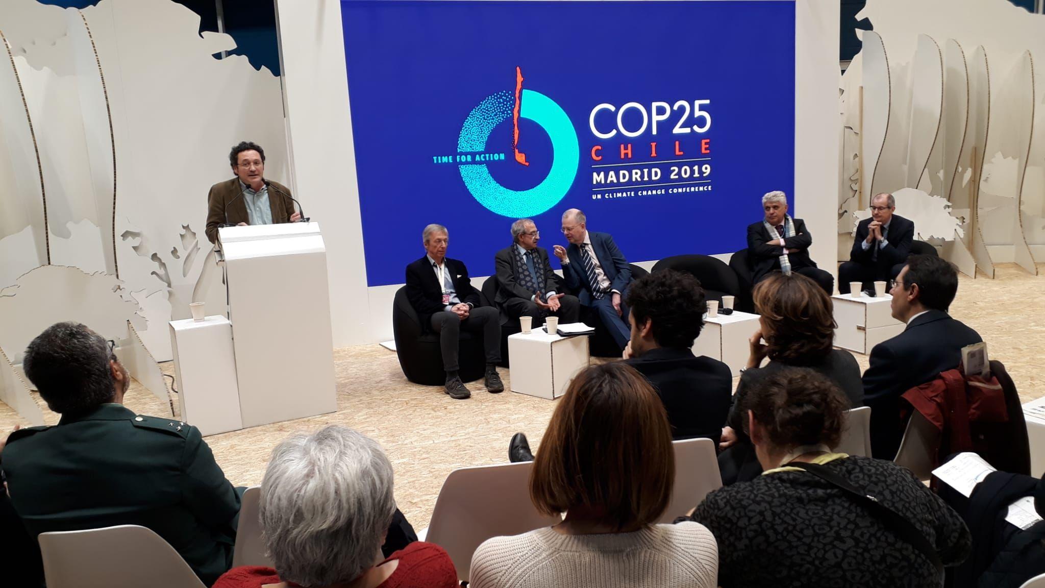García Ortiz, durante su intervención en un acto con fiscales de medio ambiente en Madrid en el seno de la cumbre sobre el clima