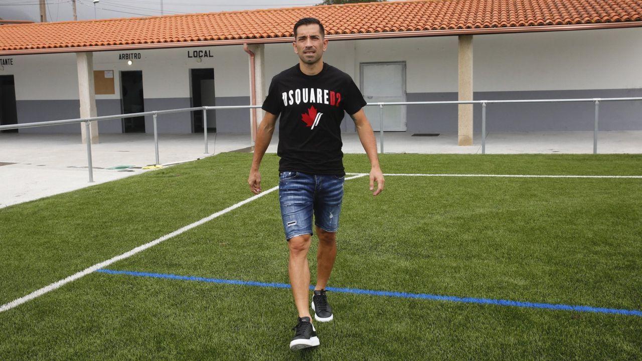 Lucho García, en la ciudad deportiva de Abegondo