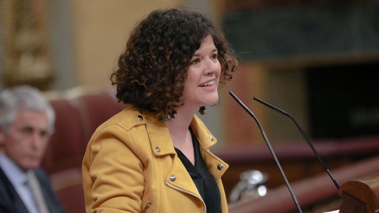En Directo: Las declaraciones de los líderes políticos en el Congreso de los Diputados por el cuadragésimo segundo aniversario de la Constitución.La diputada de Unidas Podemos Sofía Fernández Castañón.