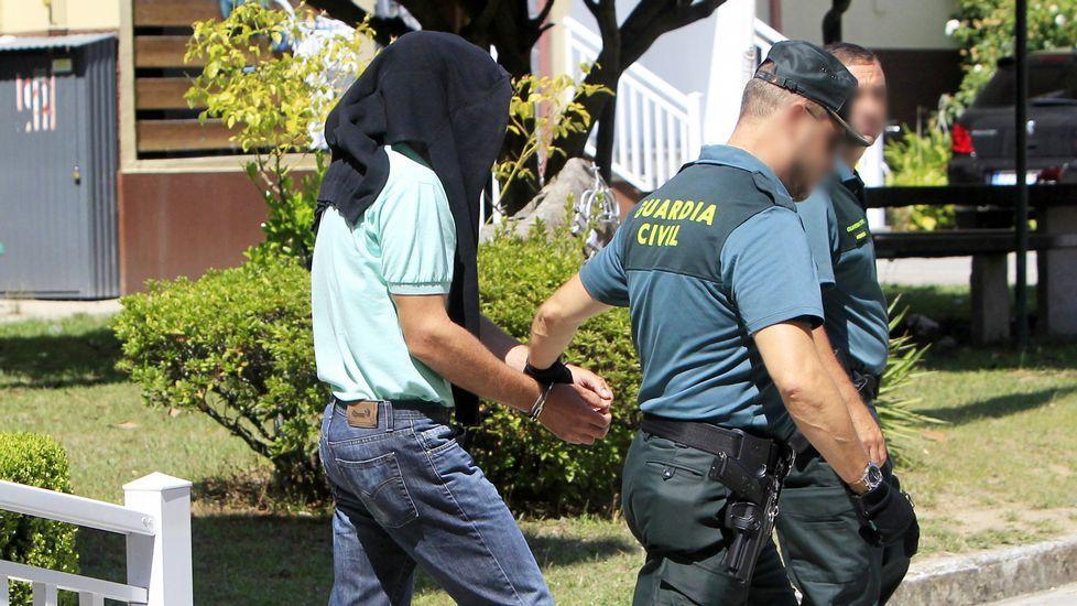 Antonio V. G. fue detenido por la Guardia Civil de Mondariz.
