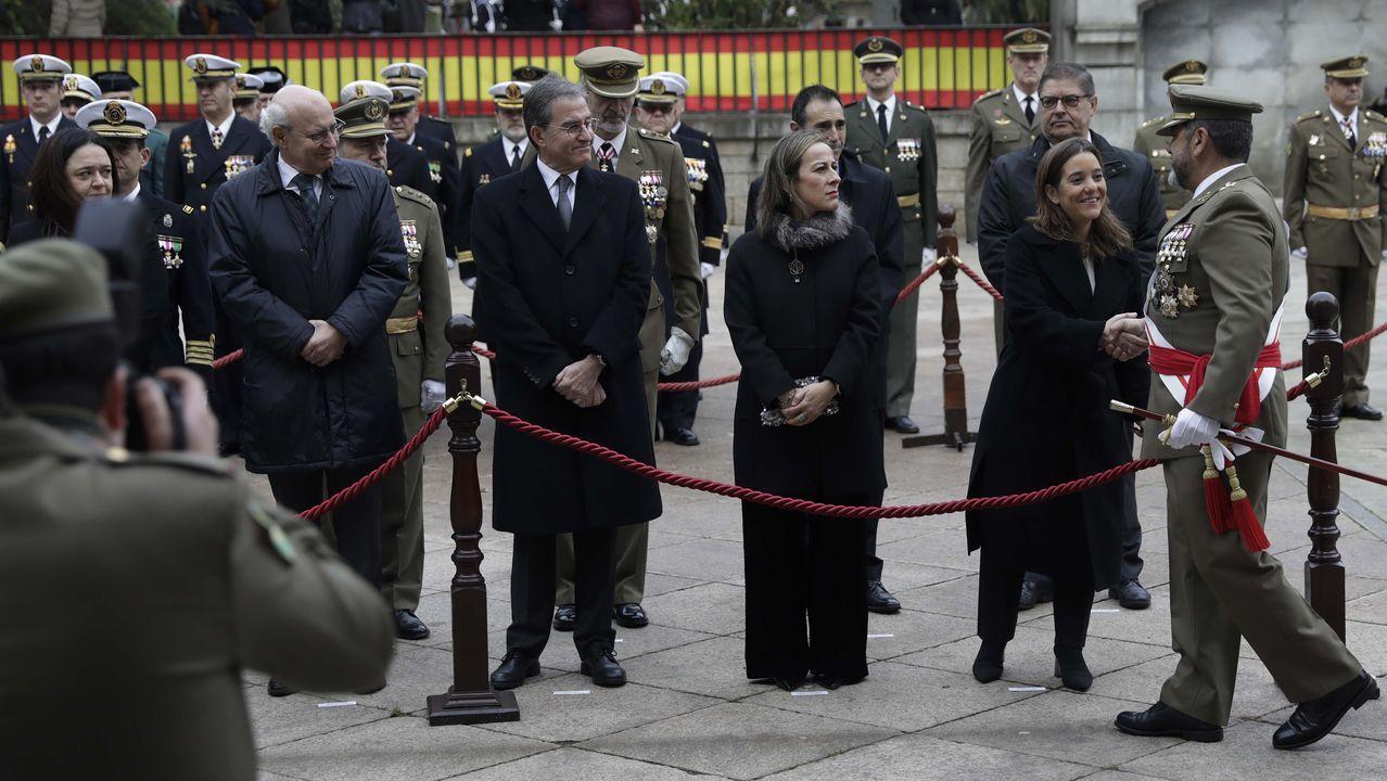 CELEBRACIÓN DE LA PASCUA MILITAR EN CAPITANÍA GENERAL FRANCISCO JAVIER SÁNCHEZ, GENERAL JEFE DE LAS FUERZA LOGÍSTICA OPERATIVA