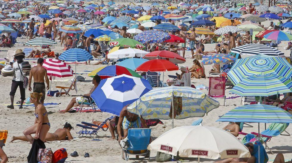 Playa de Retorta, en Boiro.Playa de Silgar, Sanxenxo