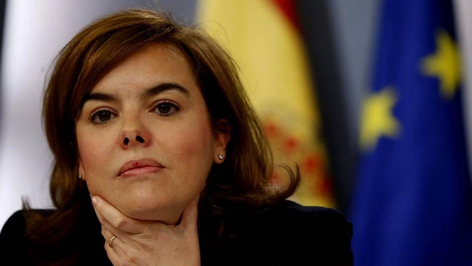 Soraya durante la rueda de prensa posterior al Consejo de Ministros