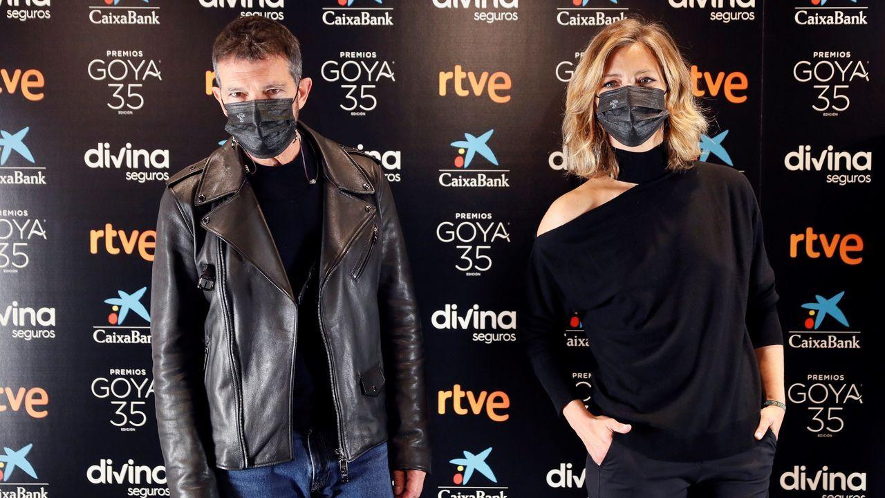 La alfombra roja de los Premios Goya.Antonio Banderas y María Casado presentarán la gala