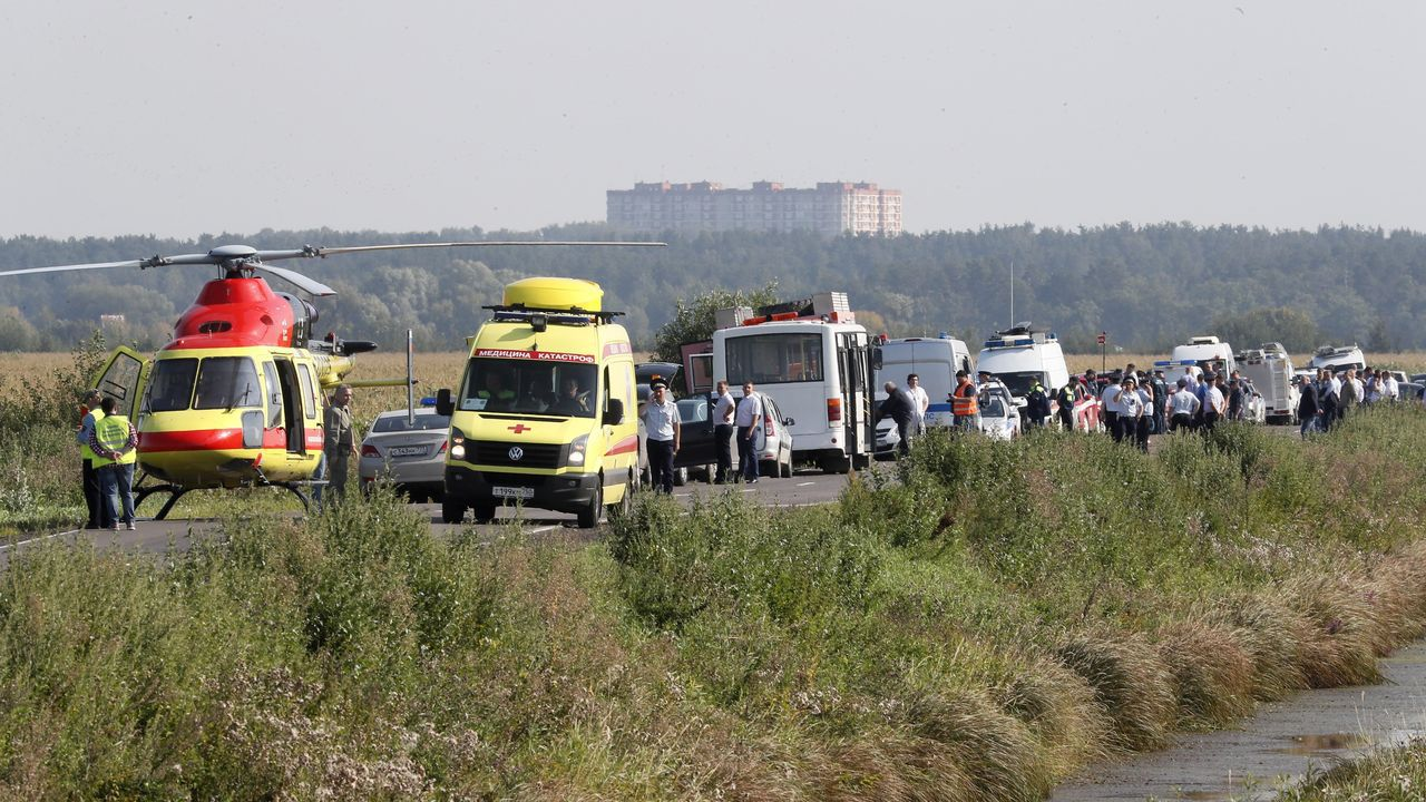 Accidente aéreo en Rusia