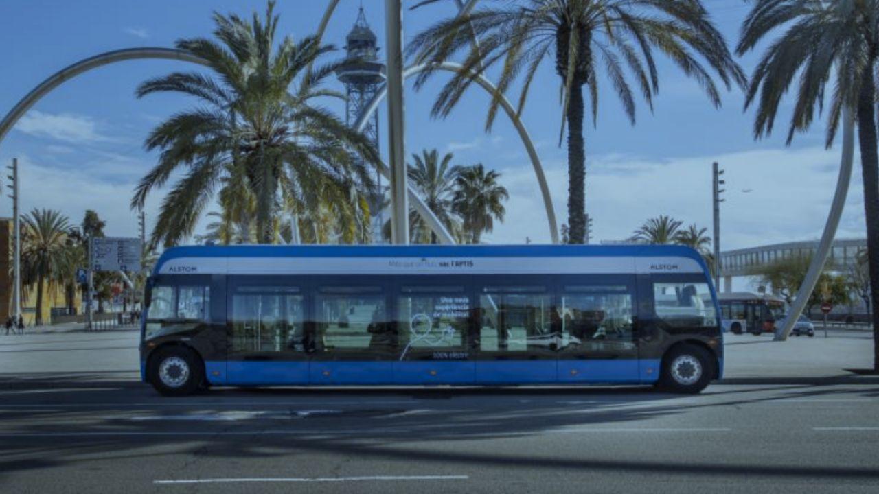 Autobús eléctrico que circulará en pruebas por Gijón