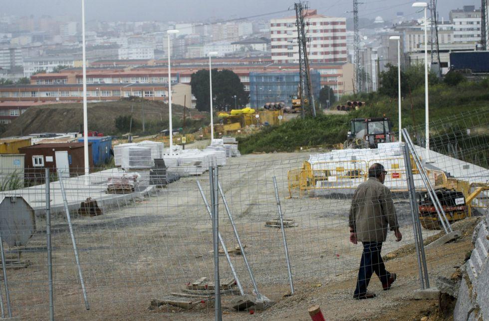 Las obras de urbanización del Ofimático se encuentran actualmente muy avanzadas.