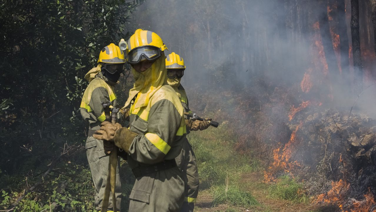 Incendio en Sardiñeiro, Fisterra