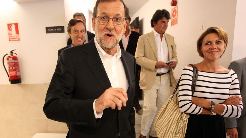 Rajoy: «Estoy en disposición para acudir a la investidura».El fiscal jefe de la Audiencia Provincial de Málaga, Manuel Villén; el fiscal jefe Anticorrupción, Antonio Salinas; y el fiscal Antimafia, Juan Carlos López Caballero, de izquierda a derecha.