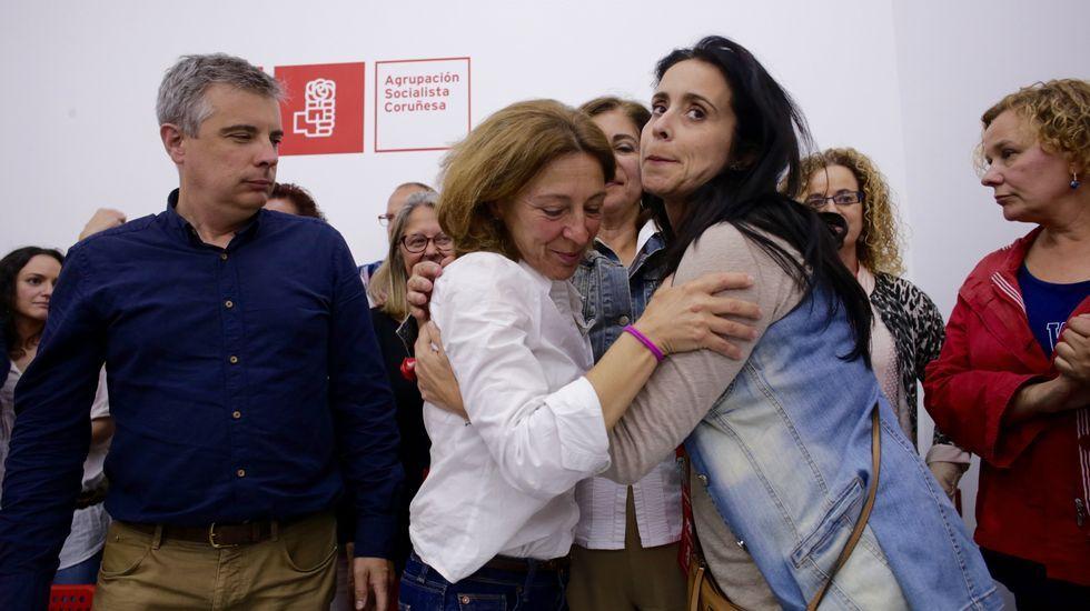 Mar Barcón, emocionada al reconocer los pobres resultados del PSOE en A Coruña.