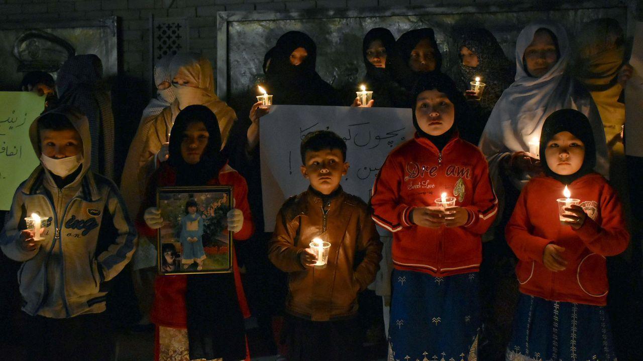 Protestas en Kasur por la violación y asesinato de una niña.El alpinista Alberto Iñurrategi en el auditorio de Oviedo