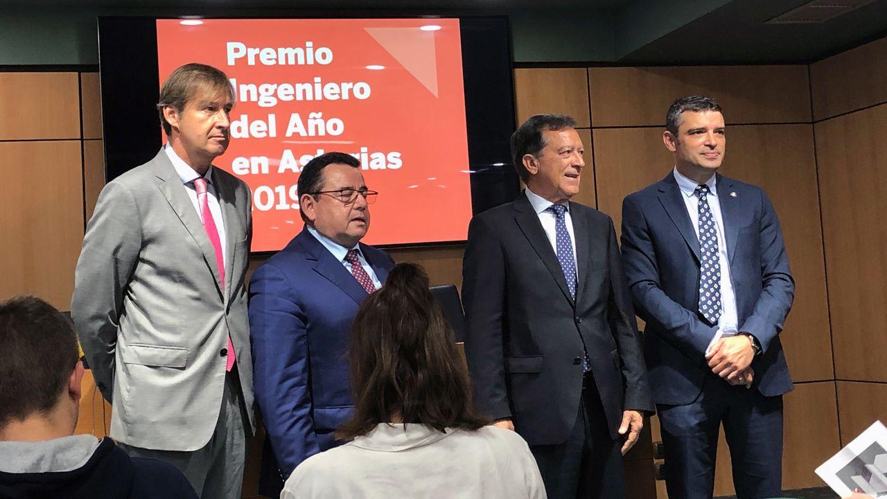 De izquierda a derecha: Juan Vicente Piñera Álvarez, Fernando Martínez Rodríguez, Enrique Marcián Cardete y Juan Carlos Campo Rodríguez.