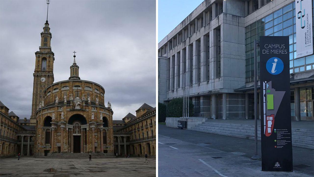 Universidad Laboral de Gijón y Campus de Barredo de Mieres