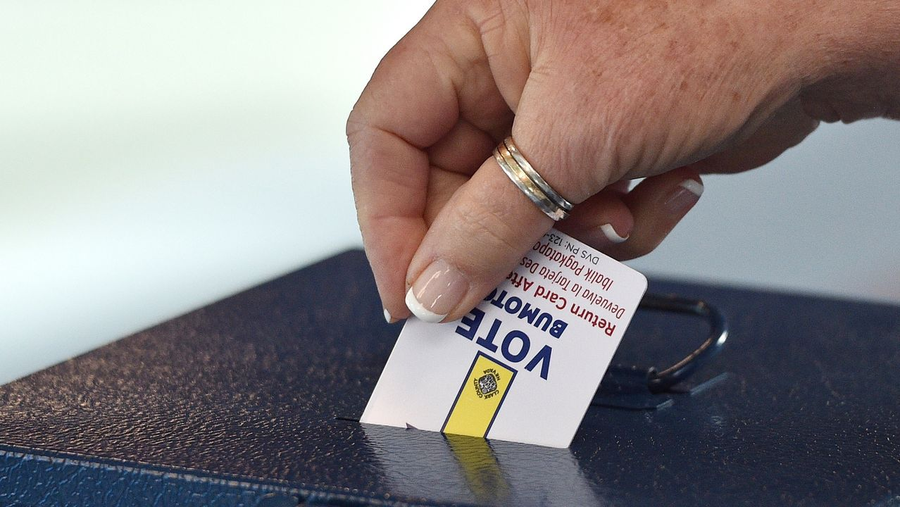 Tarjeta de activación del voto en Las Vegas