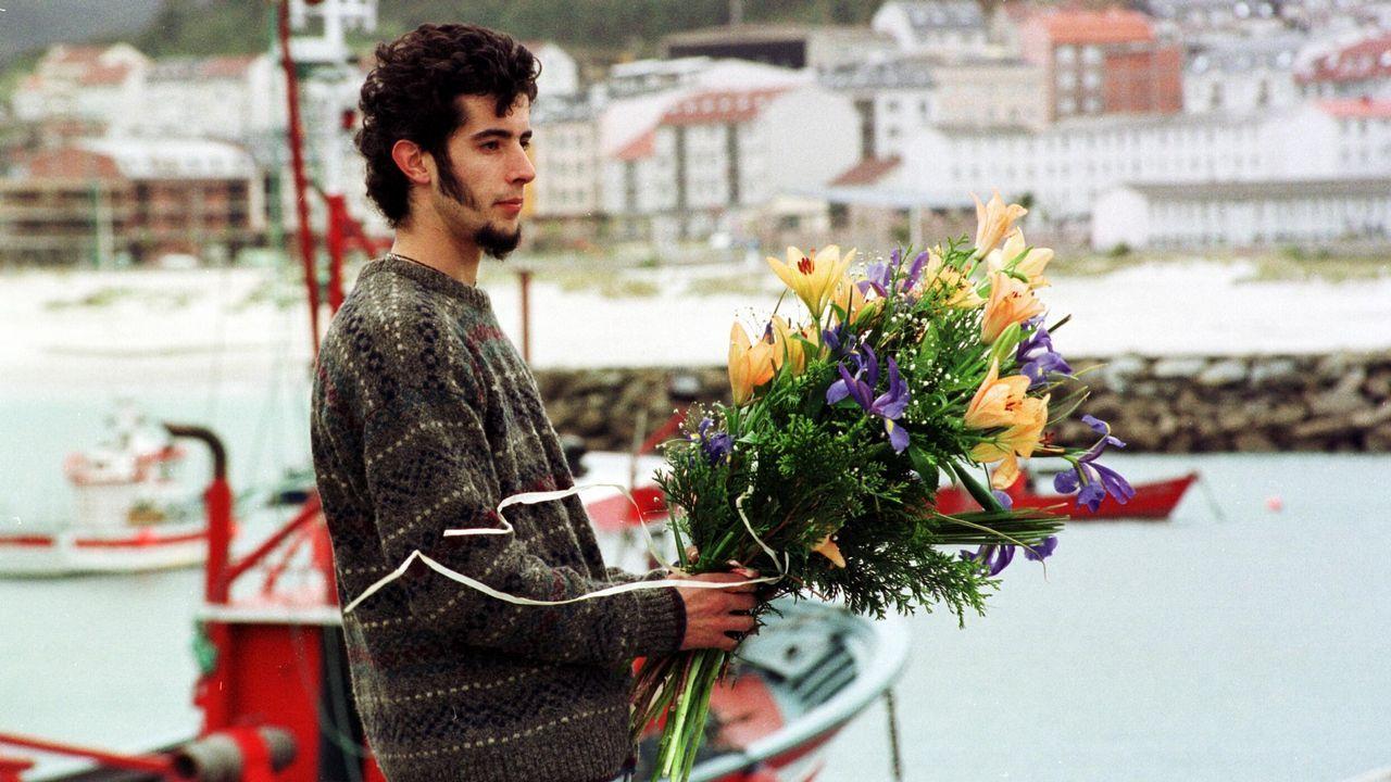 Ana Santos (Pitusa) e Luis Zahera (Petróleo) dando o pregón na Festa da Pataca
