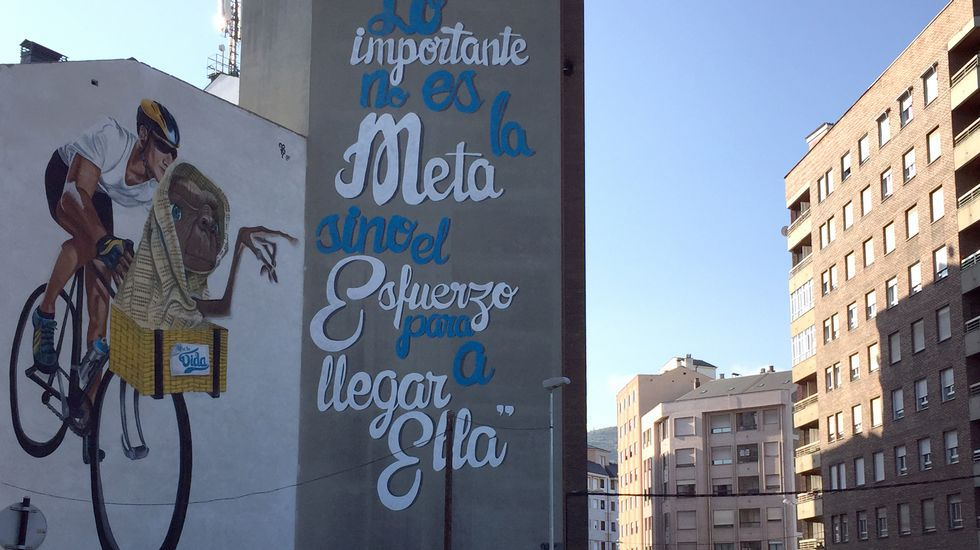 El arte urbano de Asier en Ponferrada.José María Aznar