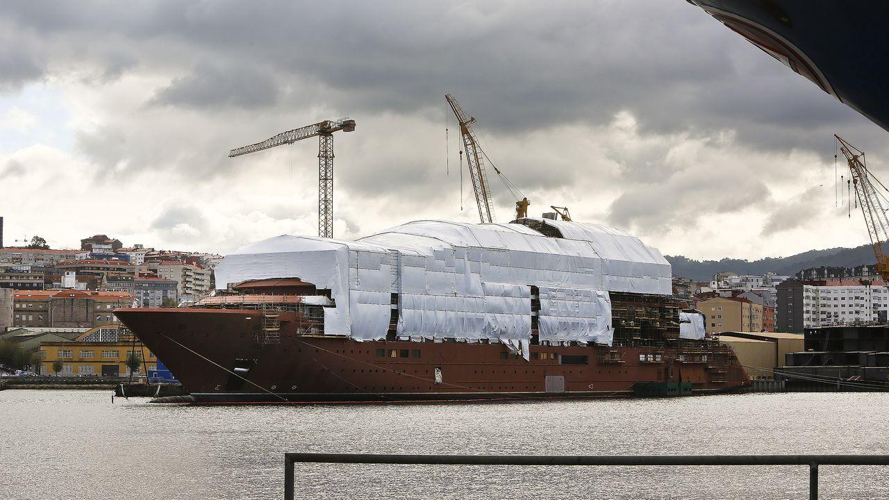 El crucero Evrima, para The Ritz Carlton, en construcción en el astillero Barreras