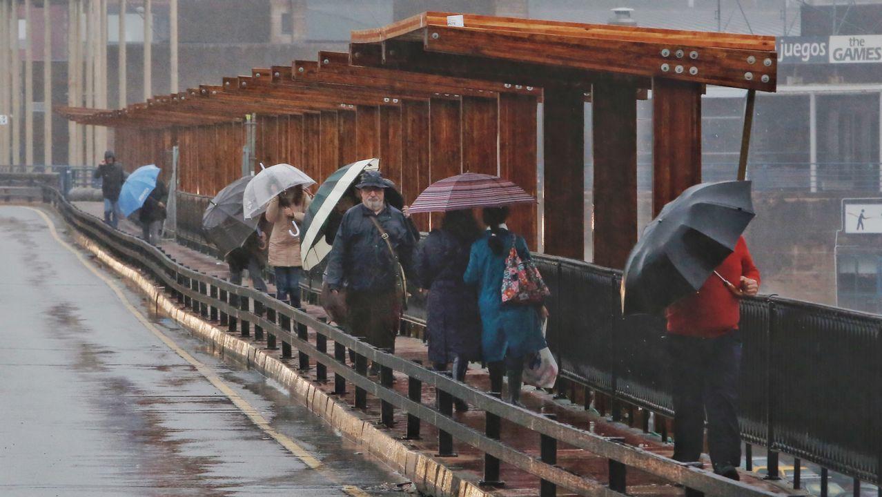 Imágenes que dejaron las nevadas en la montaña de A Pobra do Brollón.Los efectos del temporal registrado la semana pasada siguen dejándose sentir en el oriente asturiano agravados por la ciclogénesis explosiva 'Gabriel' que ha llegado este martes a la cornisa cantábrica. Así, los vehículos de gran tonelaje tienen prohibido desde el lunes circular por la vía N-625 que une Asturias y León por el puerto del Pontón a consecuencia de un hundimiento registrado en uno de los dos carriles