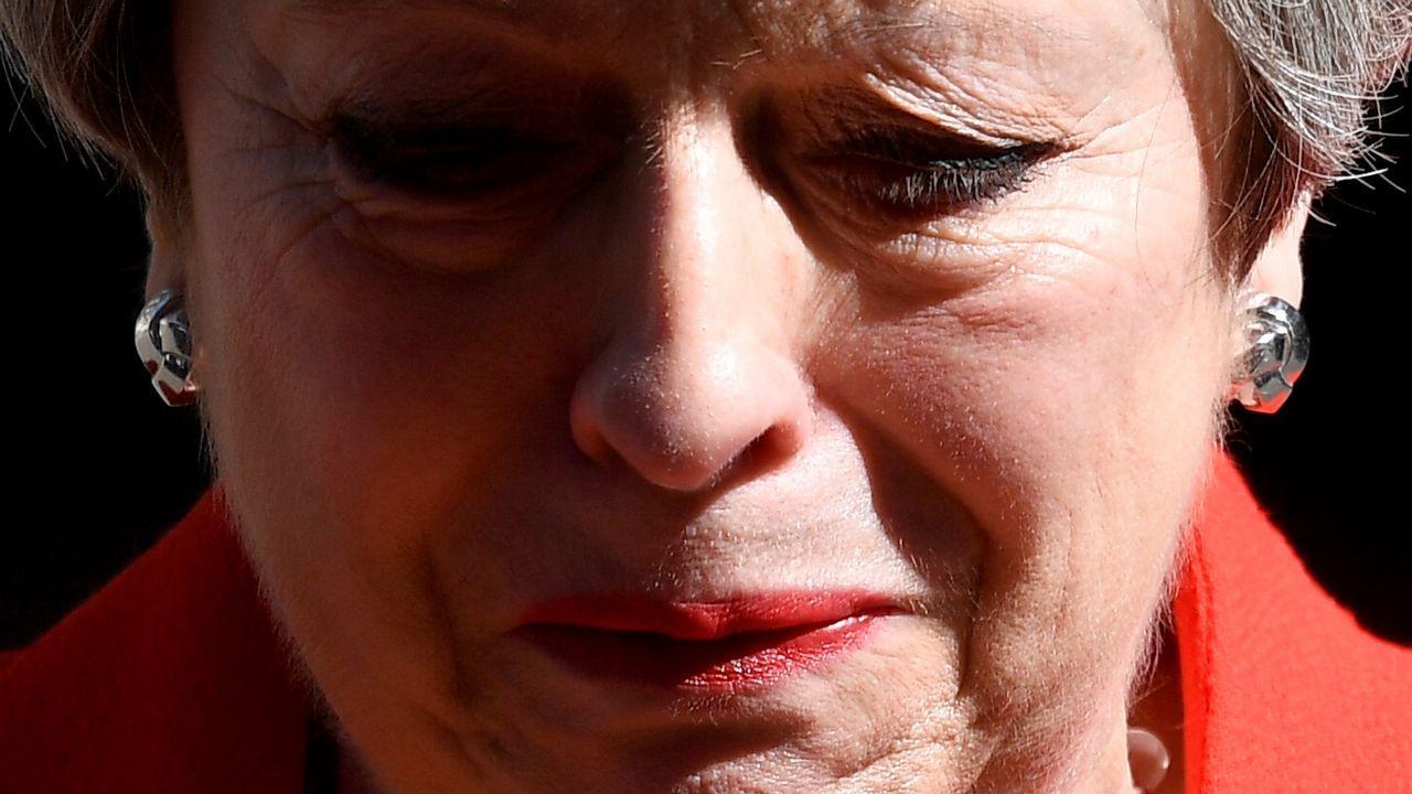 Theresa May finalizó su discurso con la voz entrecortada y entre lágrimas