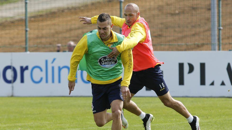 Deportivo y Espanyol entrenan en Abegondo